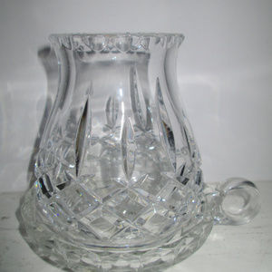 Lead Cut Crsytal Candle Holder and Base: Exquisite